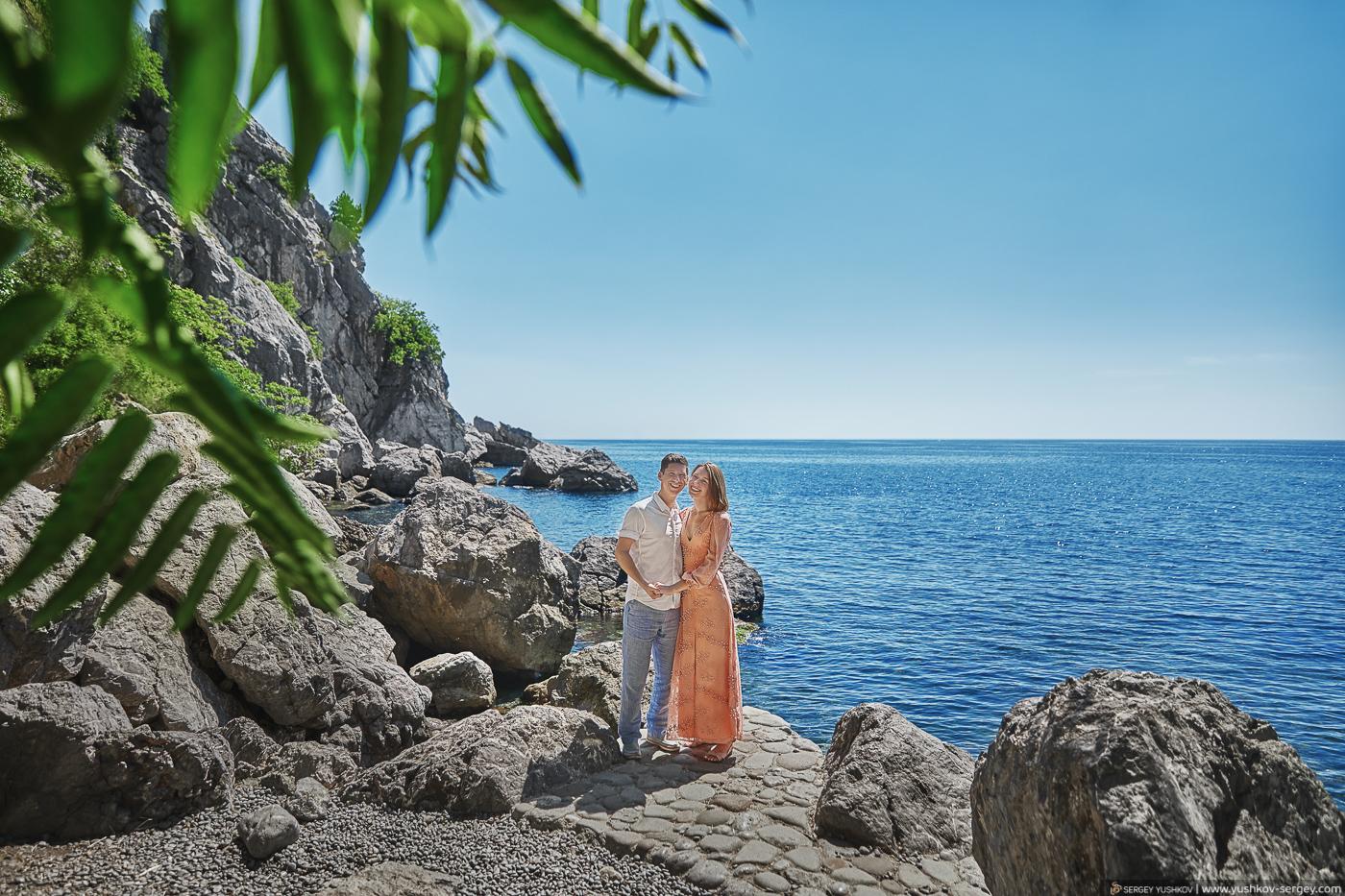 Свадьба для двоих в Крыму. Дача Чехова, пляж, Гурзуф. Фотограф - Сергей Юшков.