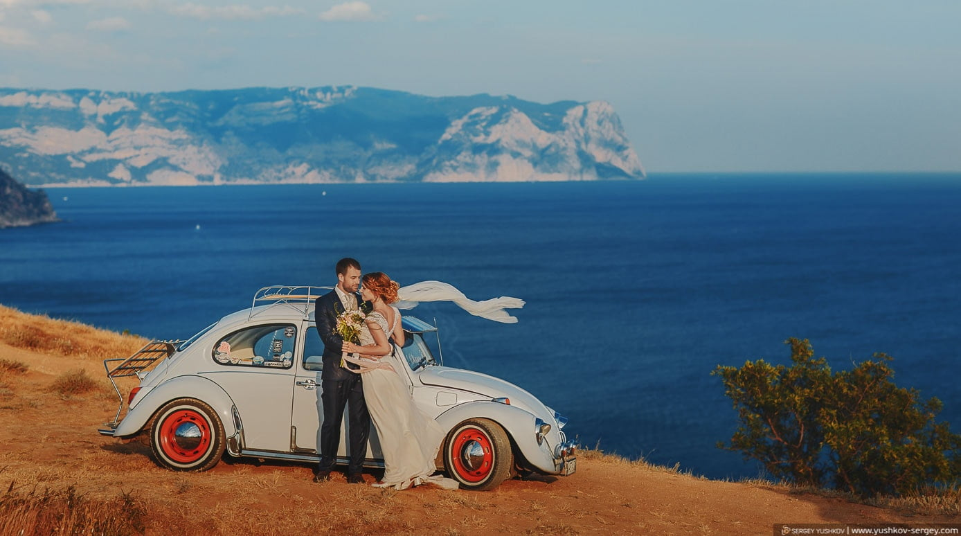 Свадебный фотограф в Крыму, Севастополе, Ялте. Фотосессия Свадьба для двоих в Крыму.