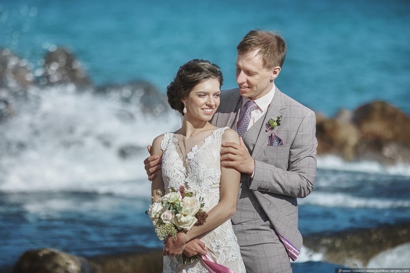 Красивая свадьба у моря в Крыму. Профессиональный фотограф - Сергей Юшков.