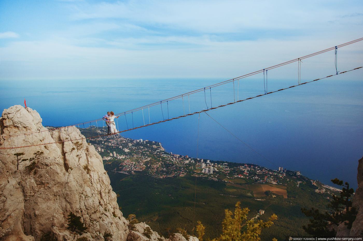 Свадьба для двоих в Крыму. Марина и Илья. Фотосессия на горе Ай-Петри.