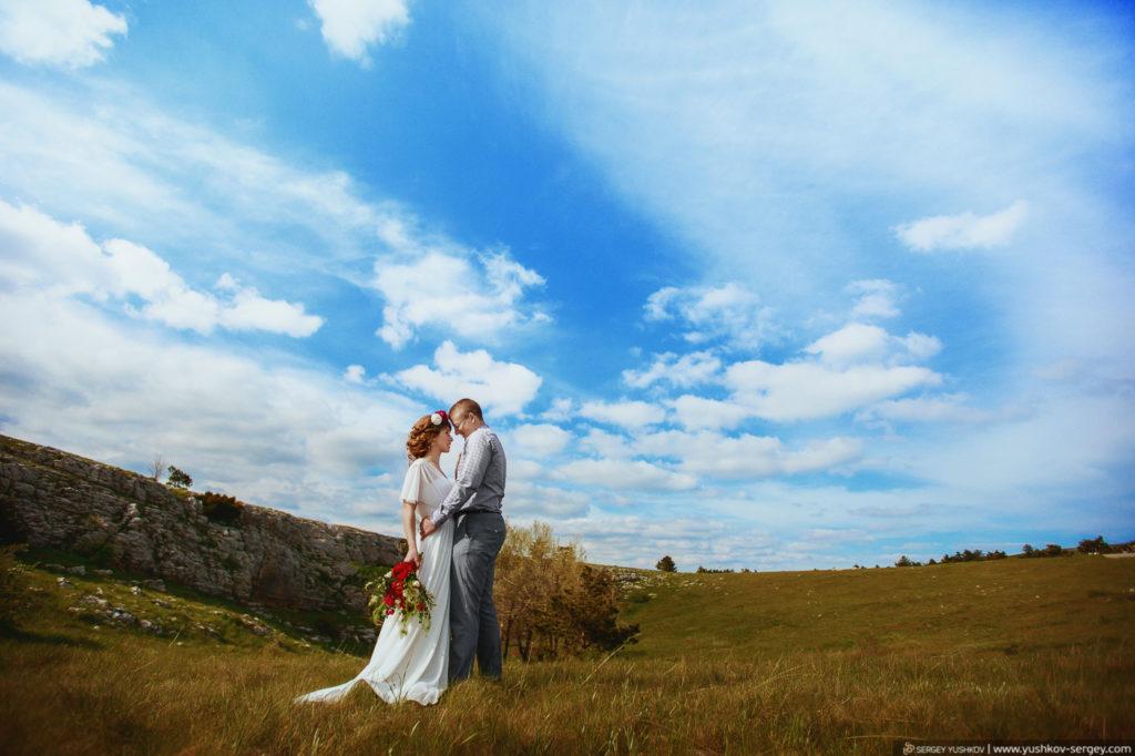 Свадьба для двоих в Крыму. Фотосессия на горе Ай-Петри. Свадебный и семейный фотограф в Крыму - Сергей Юшков
