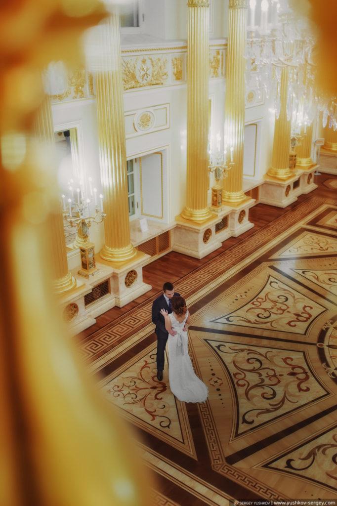 Фотосессия Свадьба для двоих в Москве. Екатерининские залы дворца Царицыно. Фотограф - Сергей Юшков