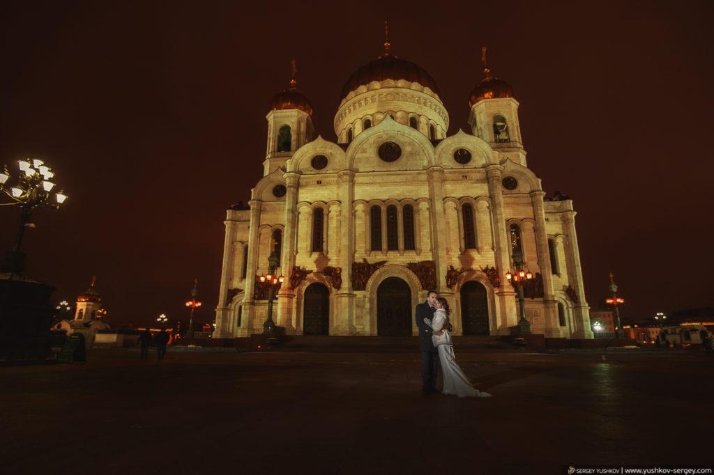 Фотосессия Свадьба для двоих в Москве. Зима. Фотограф - Сергей Юшков