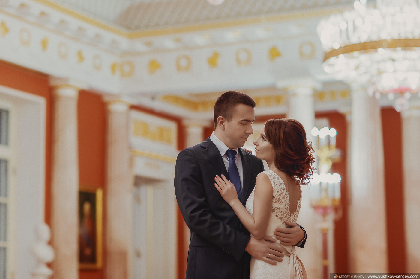 "Winter wedding photosession ""For two"" in Moscow"