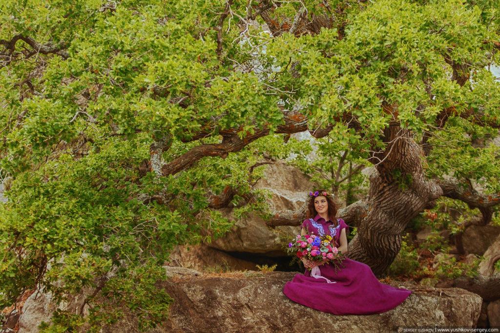 Романтическая фотосессия в лесу Для двоих. Крым. Фотограф - Сергей Юшков