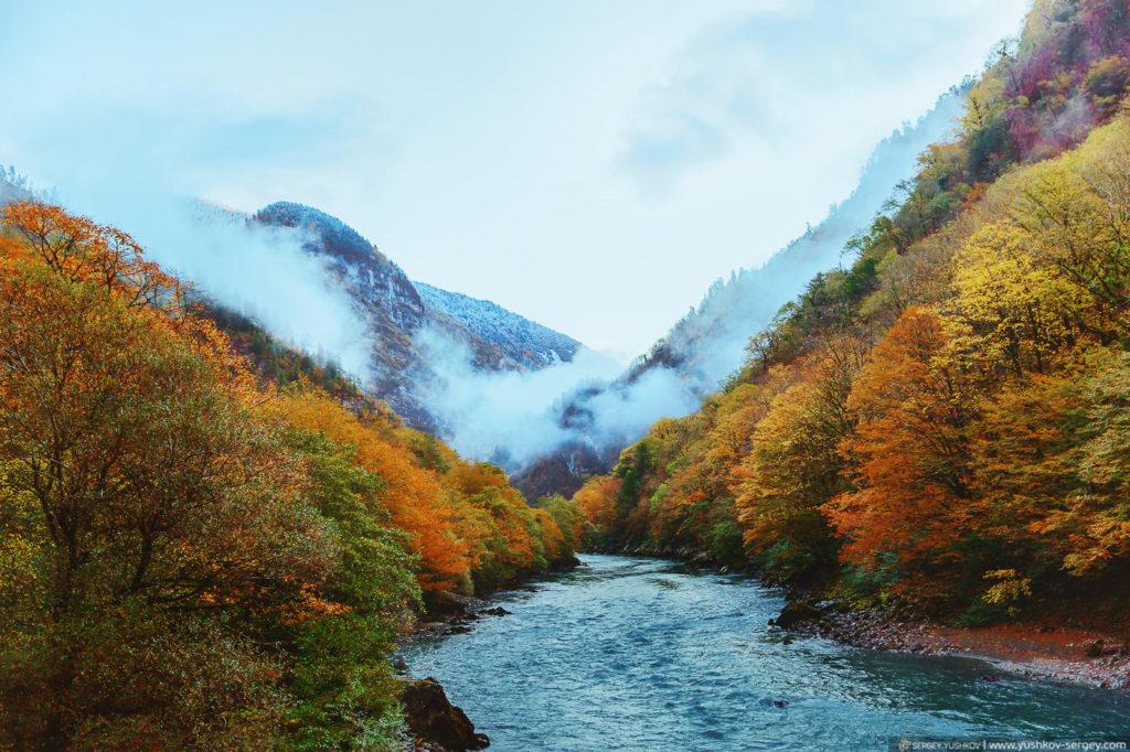 Юпшарский каньон. Осень. Абхазия