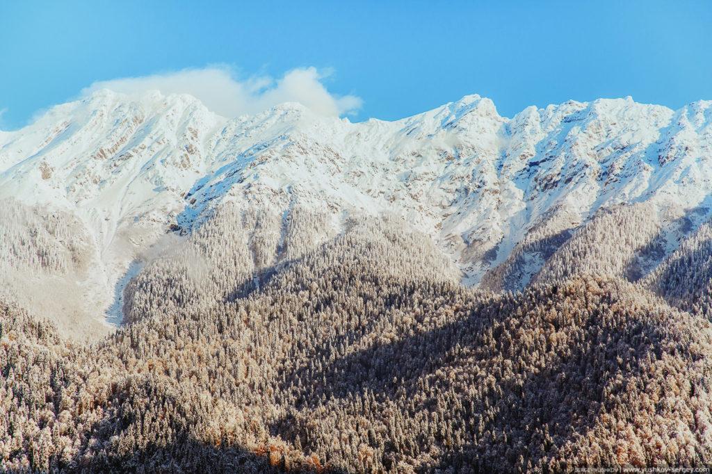Кавказские горы. Осень. Абхазия