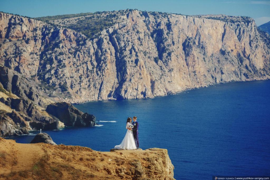 Свадьба в Крыму. Фотосессия для двоих. Фиолент, Тигровый мыс.