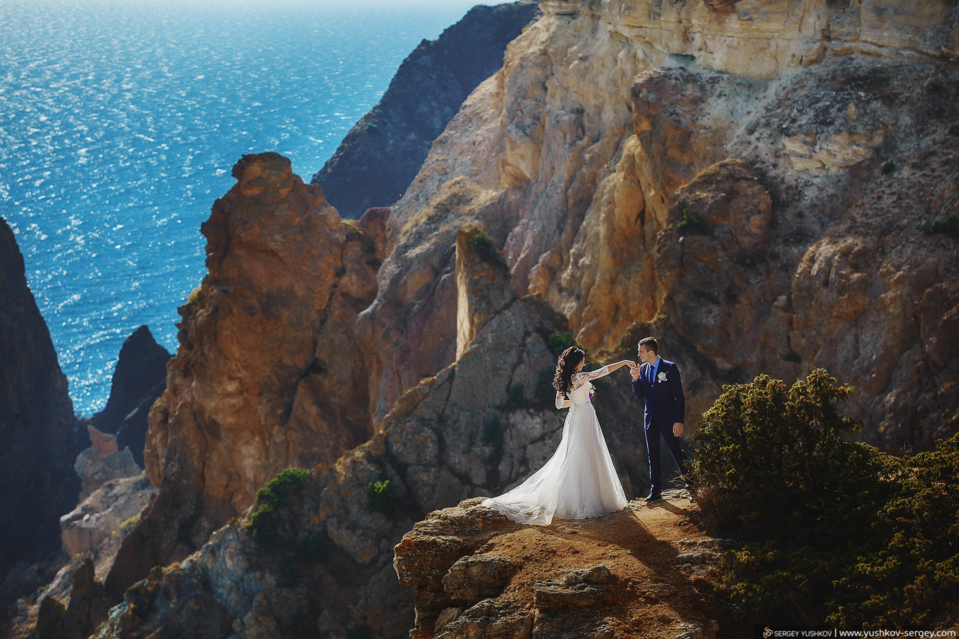 Yulya and Ivan. Wedding for two. Crimea