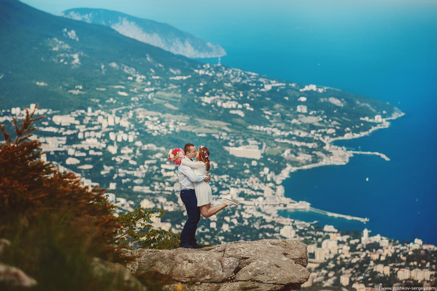 Wedding photosession on Ai-Petri