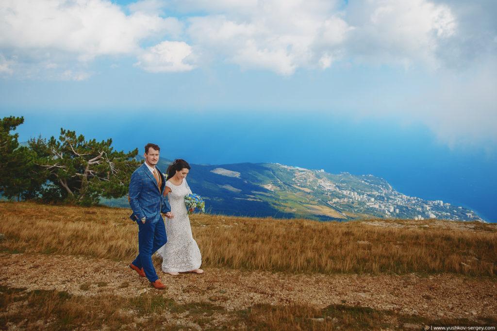 Свадьба в Крыму. Фотосессия на горе Ай-Петри. Фотограф в Крыму - Сергей Юшков