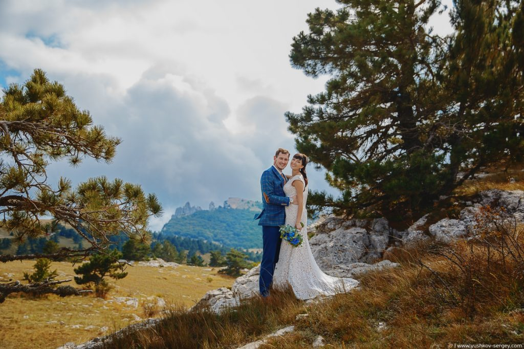 Свадьба для двоих в Крыму. Фотосессия на горе Ай-Петри. Фотограф в Крыму - Сергей Юшков