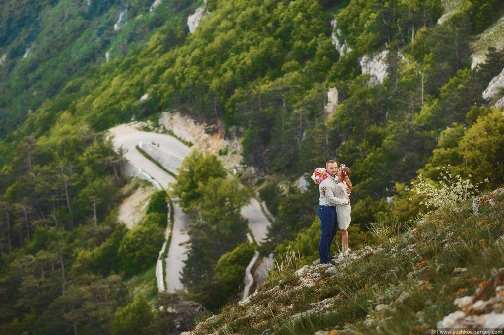 Свадьба для двоих в Крыму. Фотосессия на горе Ай-Петри. Свадебный фотограф в Крыму - Сергей Юшков