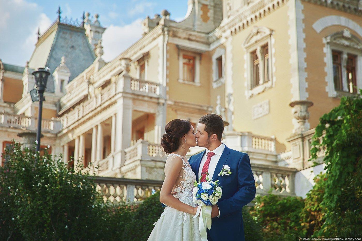 Свадебная фотосессия для двоих в парке Массандровского дворца. Ялта, Крым. Фотограф в Крыму - Сергей Юшков.