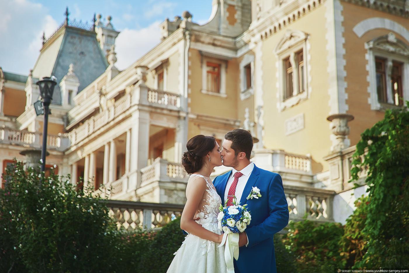 Свадьба для двоих в Крыму. Массандровский дворец. Фотограф - Сергей Юшков.