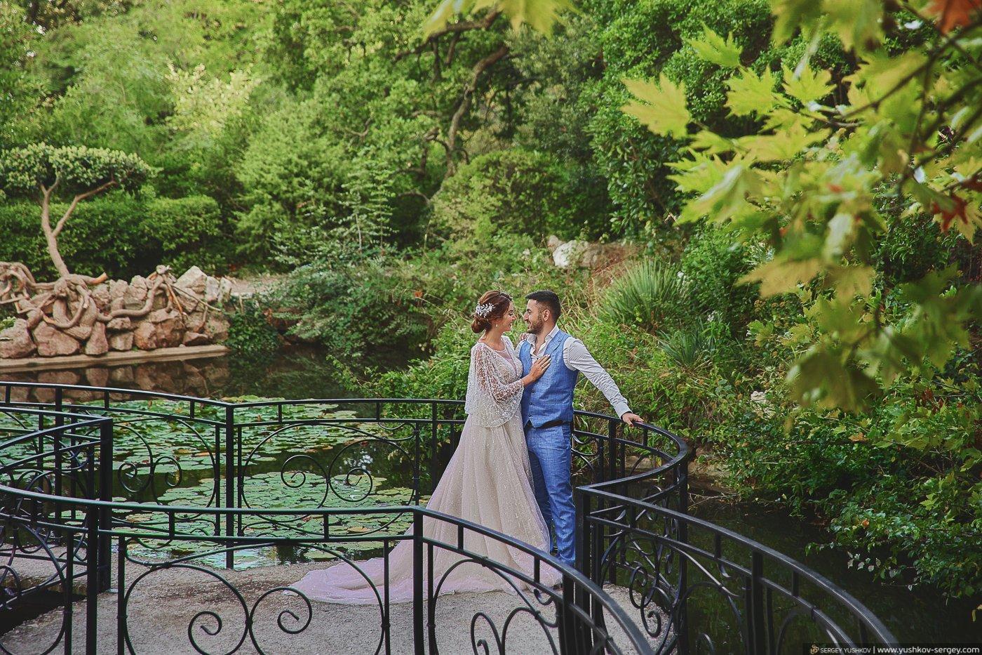 Свадебная фотосессия в Форосском парке. Крым. Фотограф Сергей Юшков.