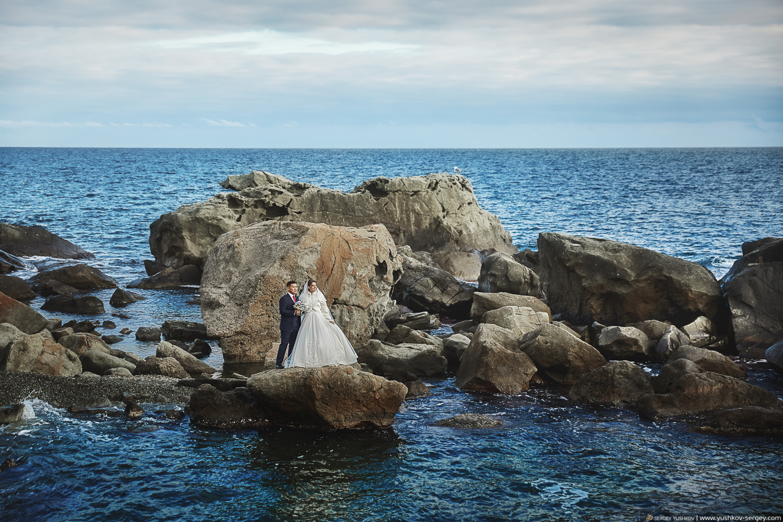 Свадебная фотосессия в парке Воронцовского дворца. Свадебный фотограф в Крыму - Сергей Юшков