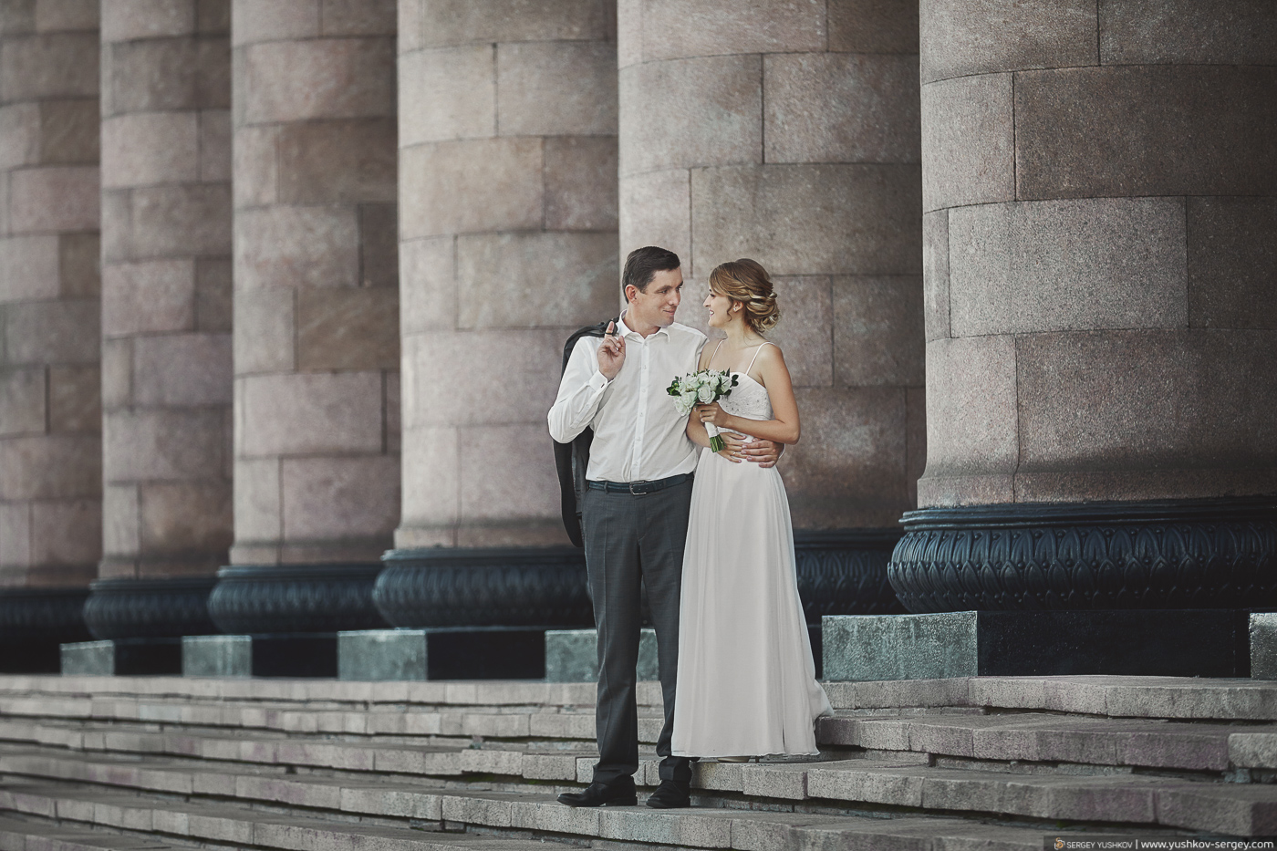 Красивая свадьба на двоих в Москве. Фотограф - Сергей Юшков.